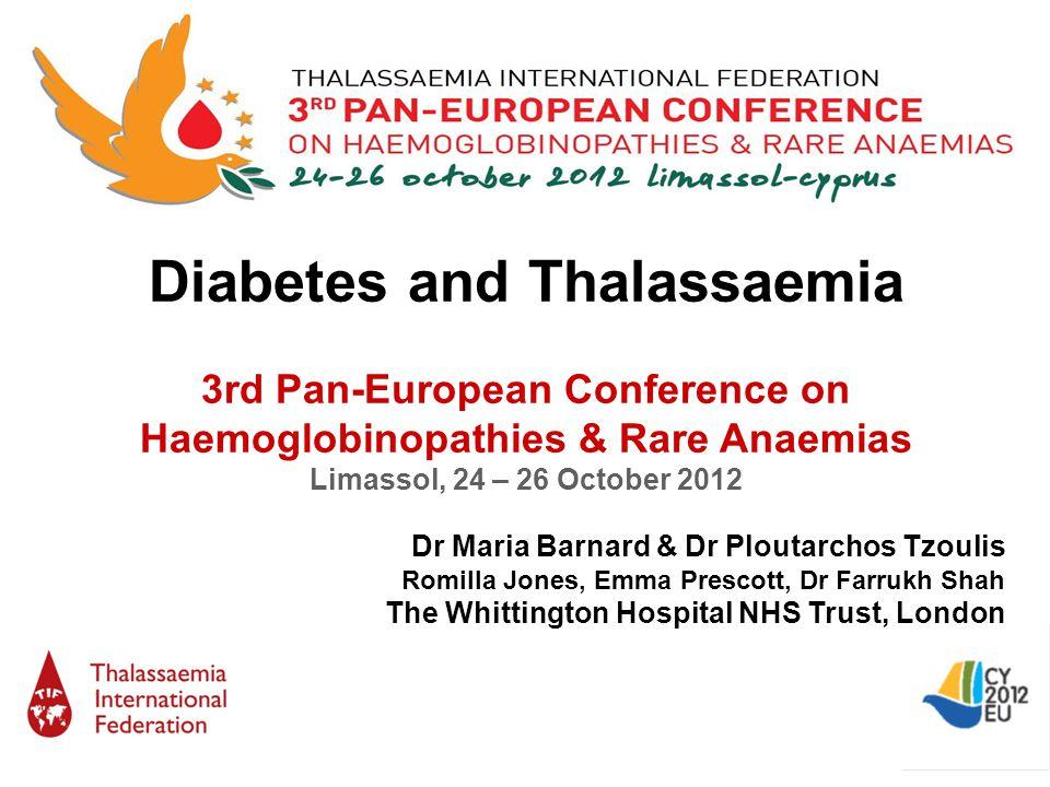 Diabetes and Thalassaemia