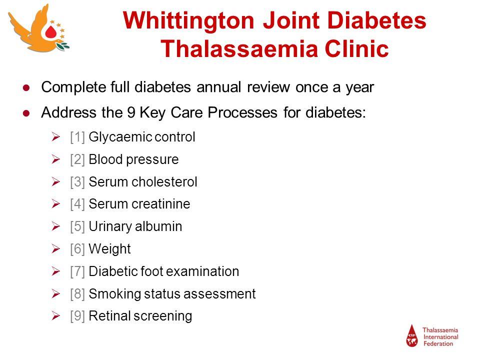 Whittington Joint Diabetes Thalassaemia Clinic