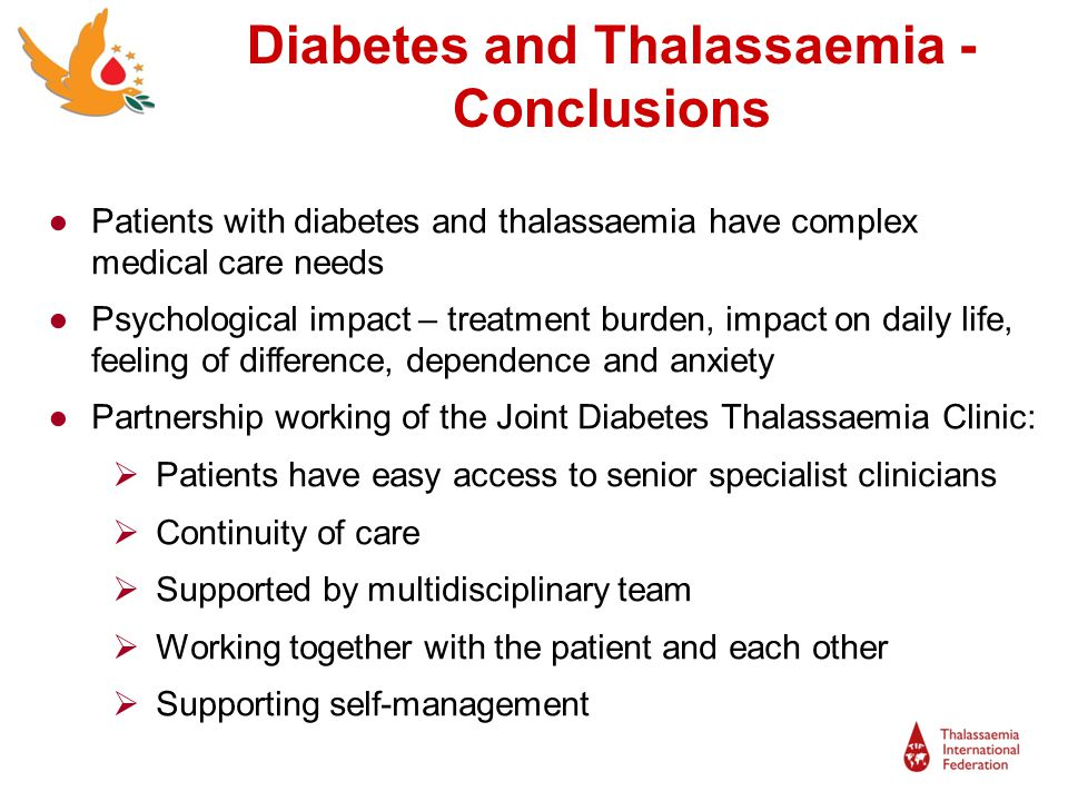 Diabetes and Thalassaemia -Conclusions