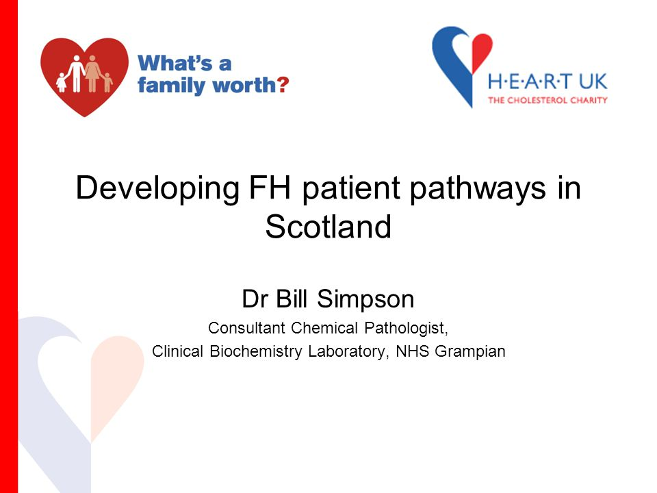 Developing FH patient pathways in Scotland