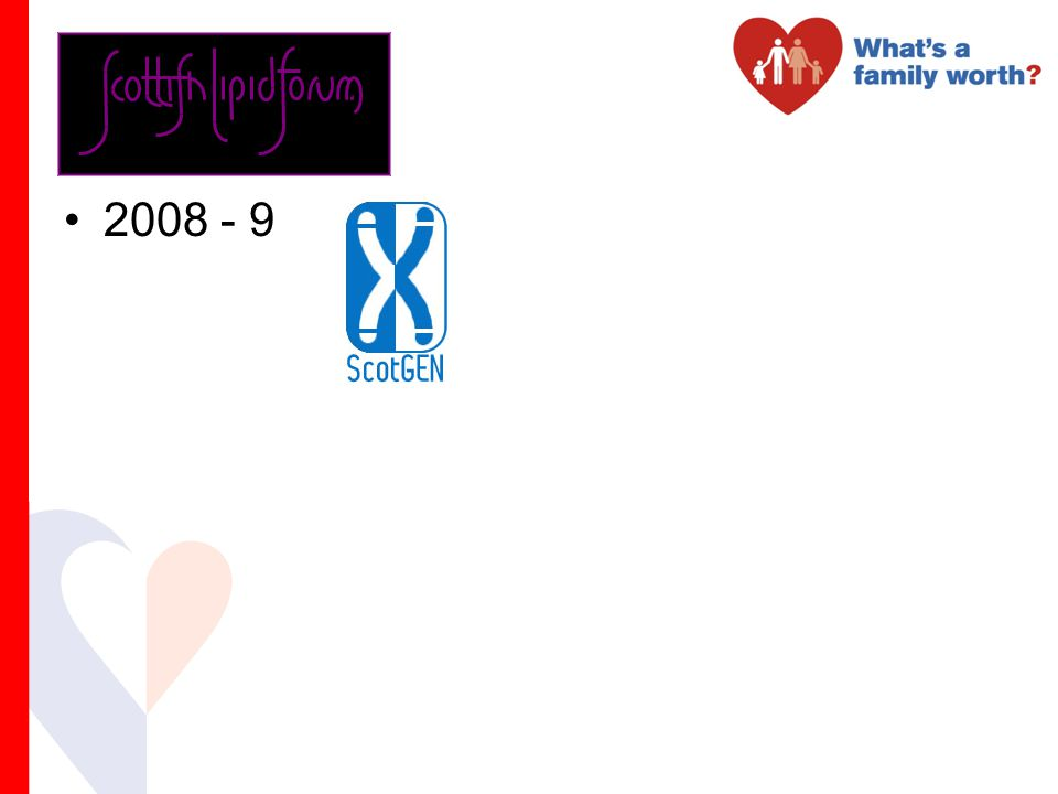 2008 - 9 Scottish Genetics Consortium founded 25 yrs ago