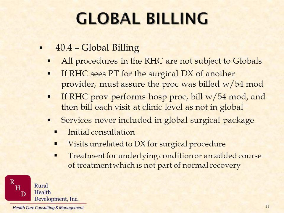 GLOBAL BILLING 40.4 – Global Billing