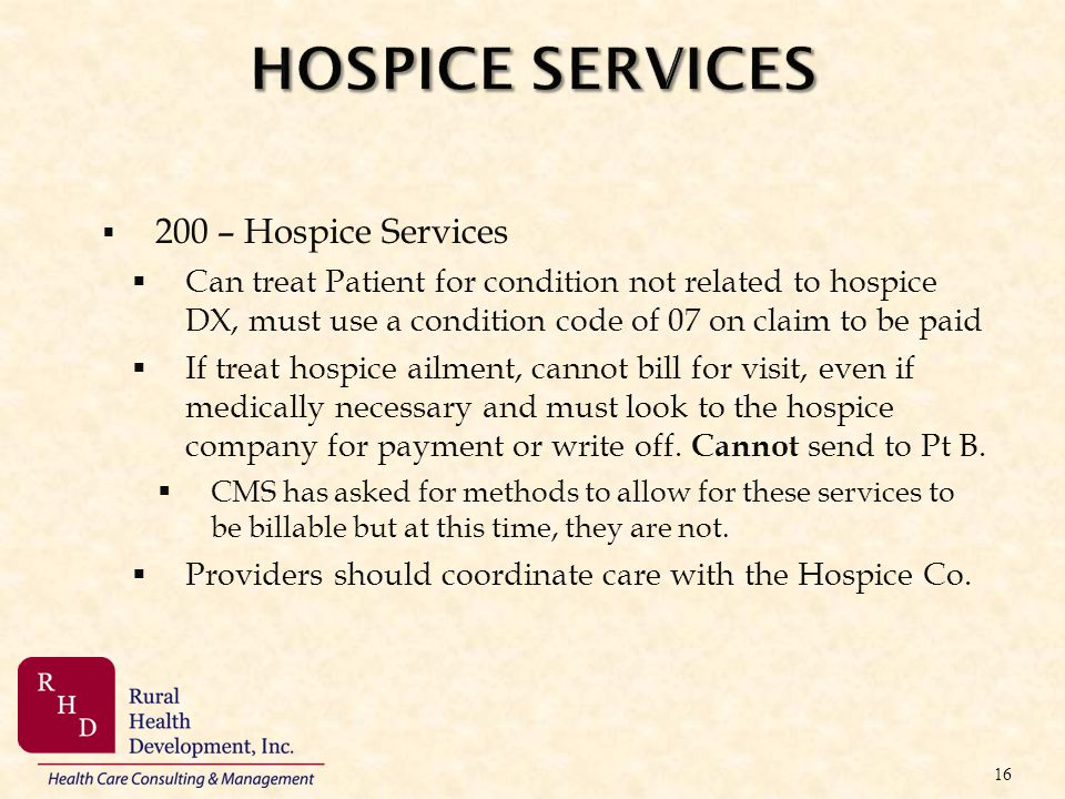 HOSPICE SERVICES 200 – Hospice Services