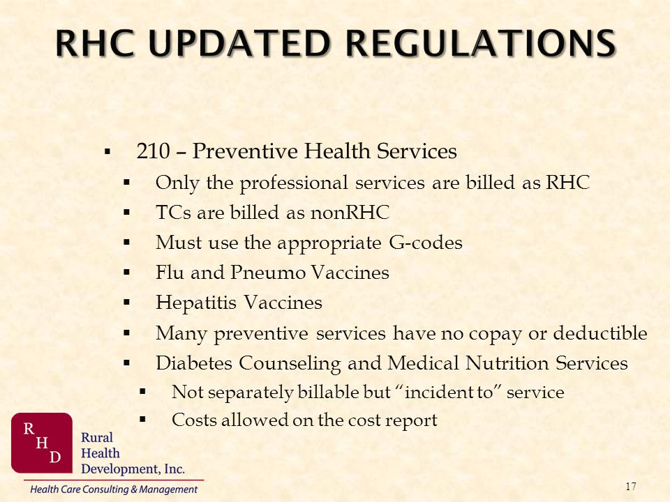 RHC UPDATED REGULATIONS