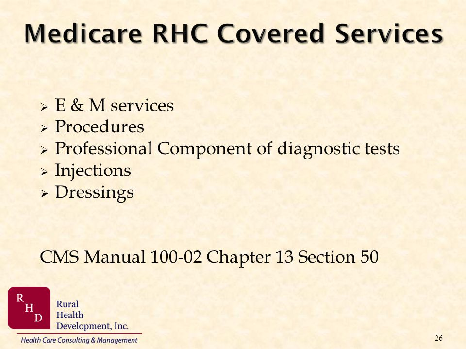 Medicare RHC Covered Services