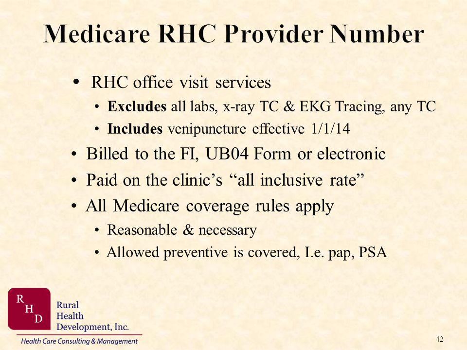 Medicare RHC Provider Number