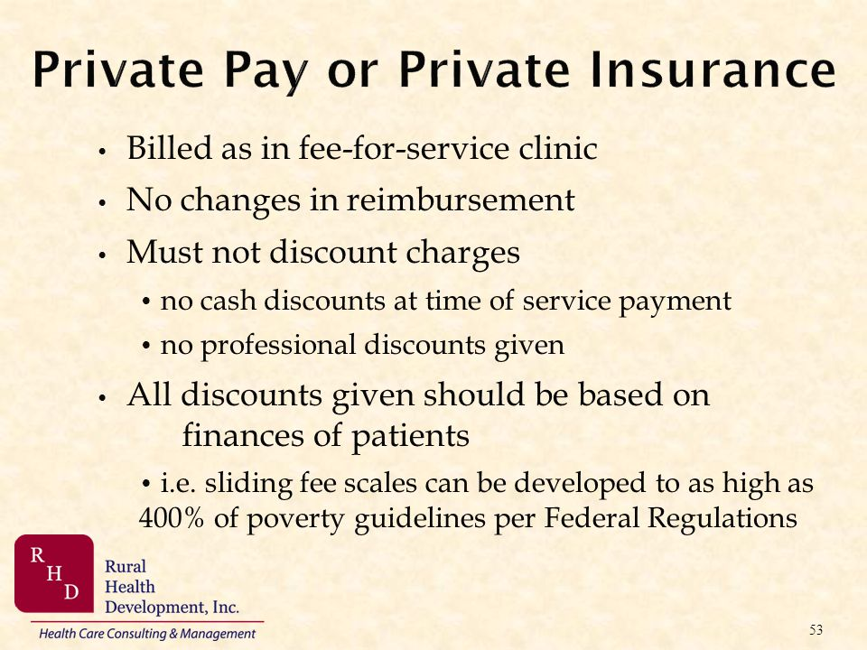 Private Pay or Private Insurance