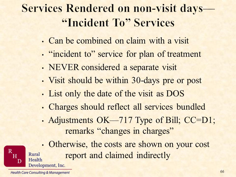 Services Rendered on non-visit days— Incident To Services