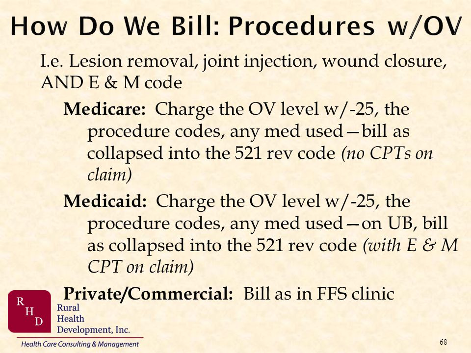 How Do We Bill: Procedures w/OV