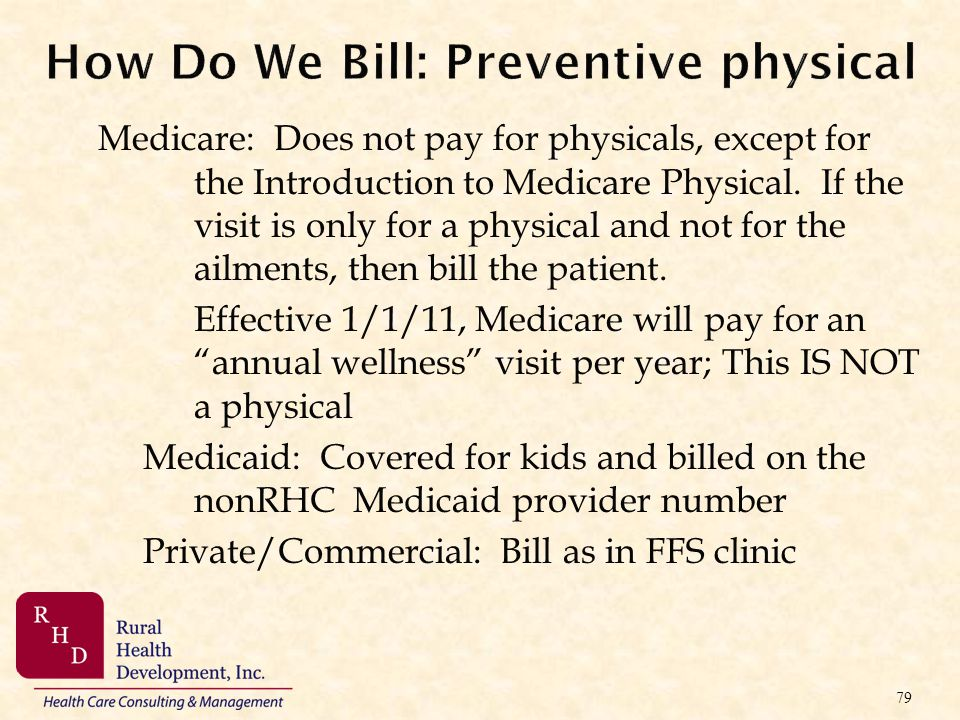 How Do We Bill: Preventive physical