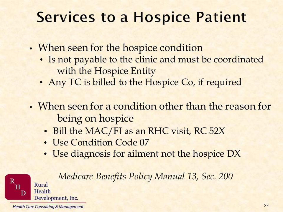 Services to a Hospice Patient
