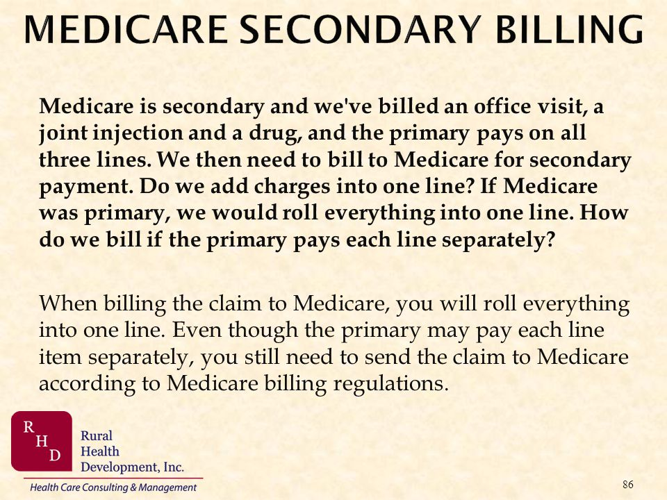 MEDICARE SECONDARY BILLING