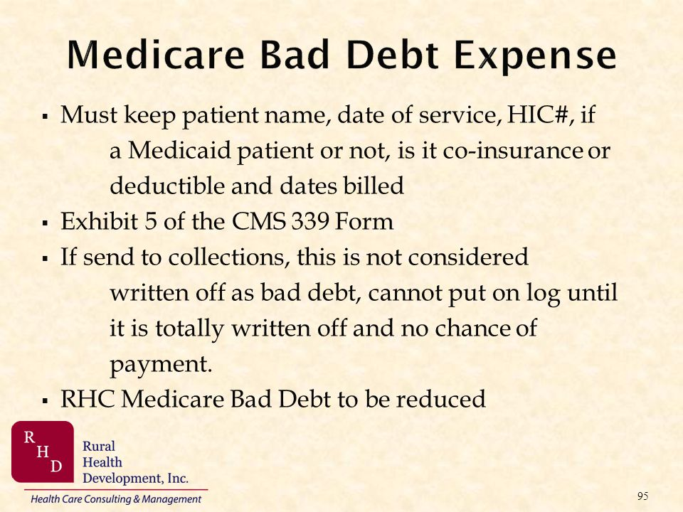 Medicare Bad Debt Expense