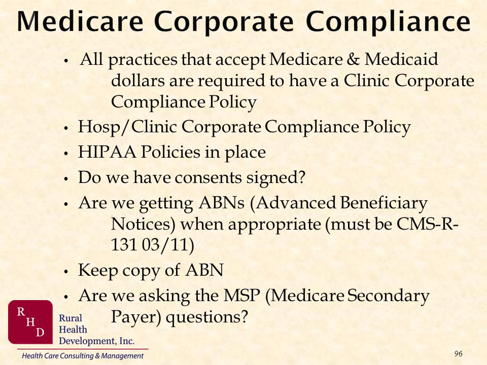 Medicare Corporate Compliance