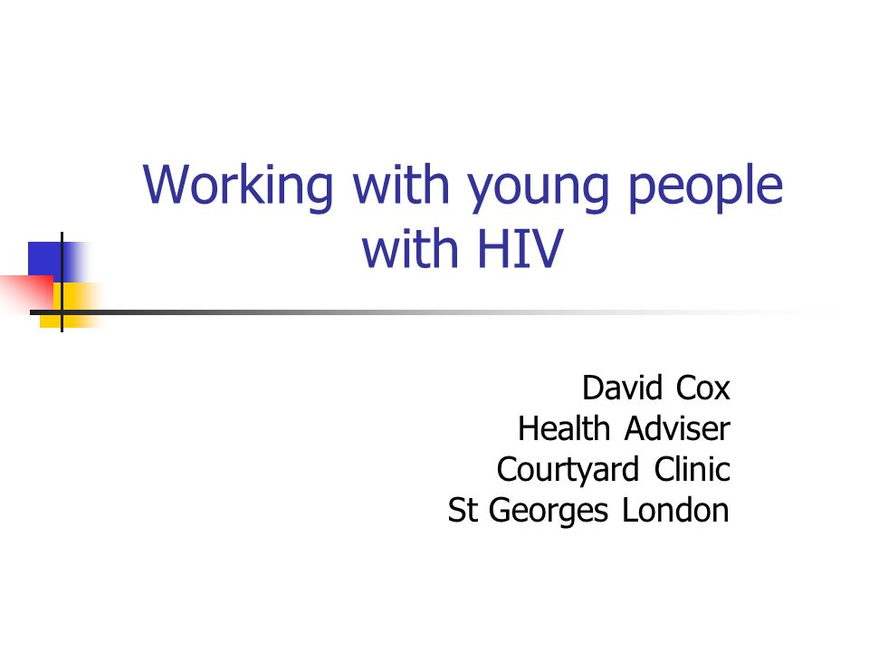Working with young people with HIV