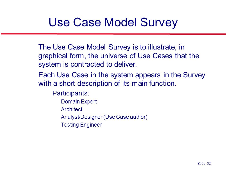 Use Case Model Survey