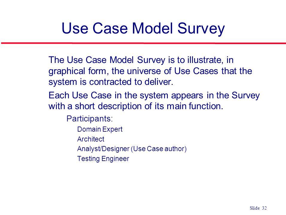 Use Case Model Survey
