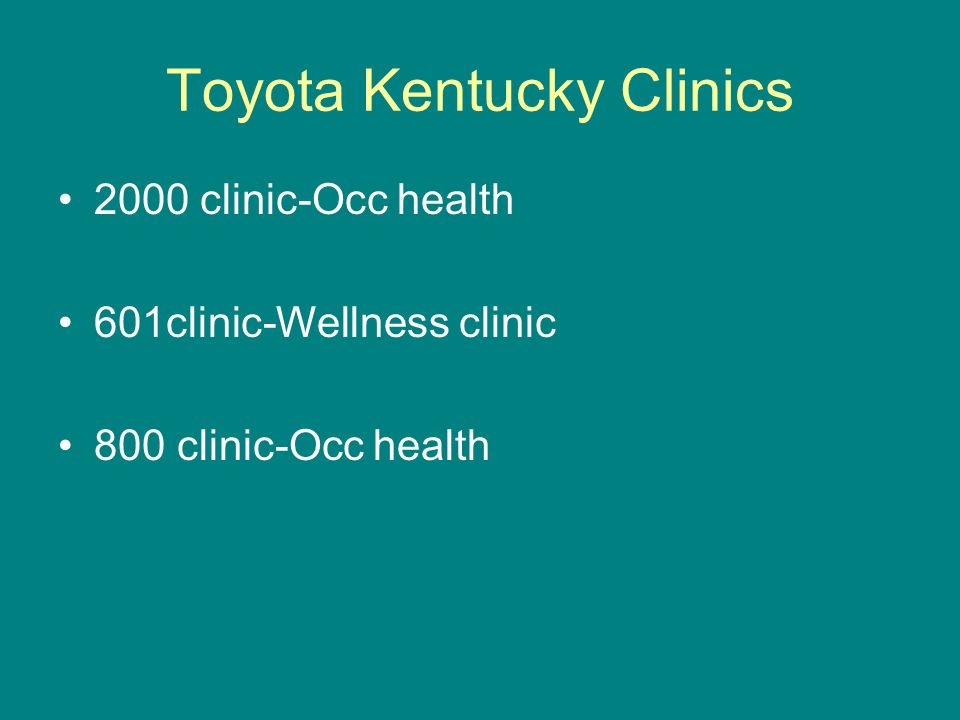 Toyota Kentucky Clinics