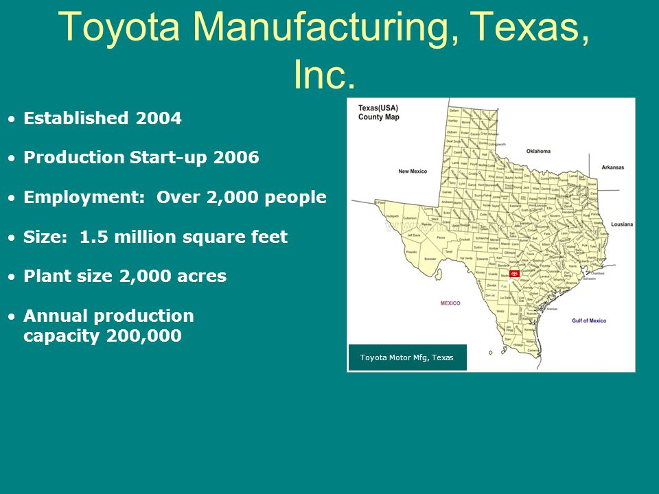 Toyota Manufacturing, Texas, Inc.