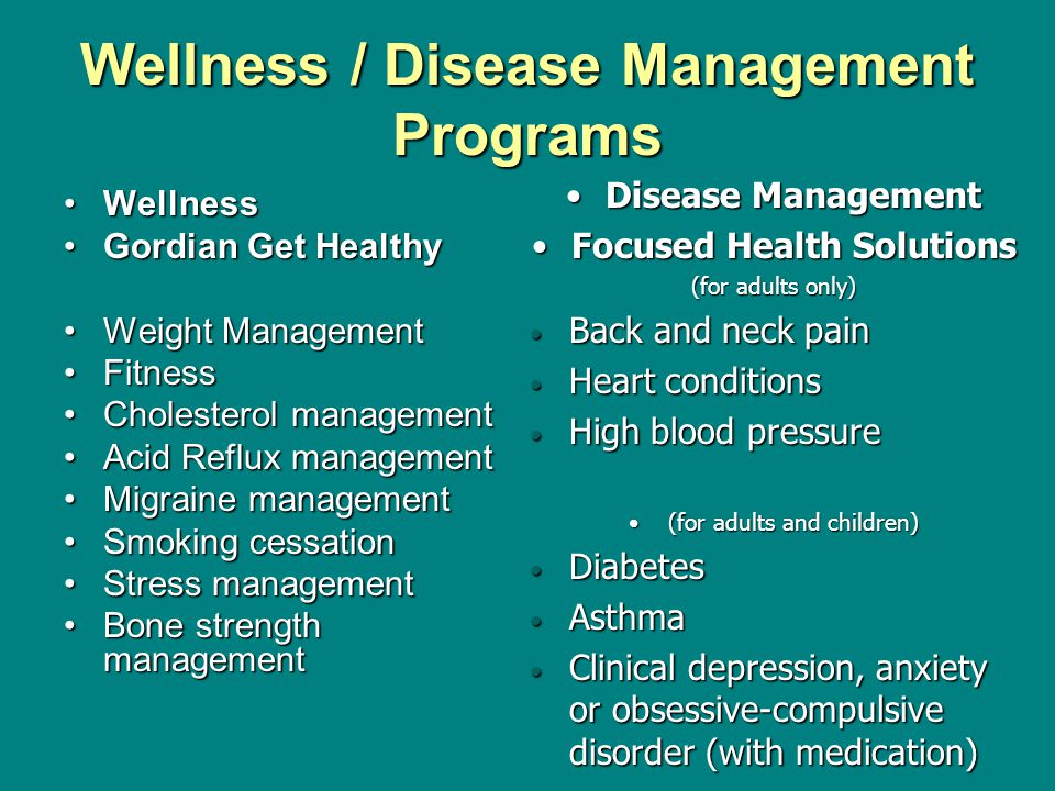 Wellness / Disease Management Programs