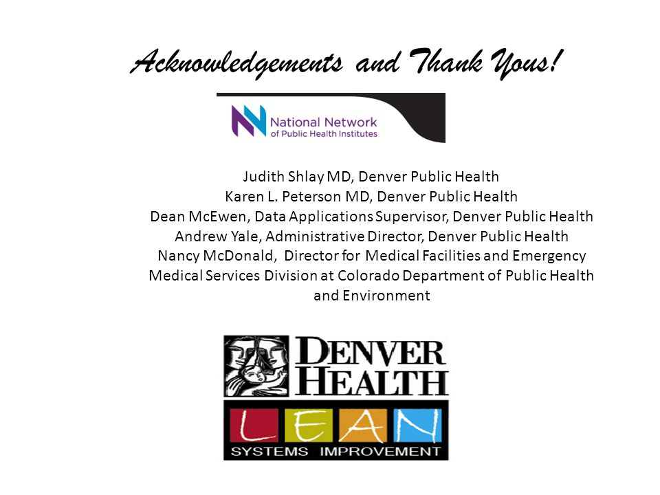 Acknowledgements and Thank Yous!