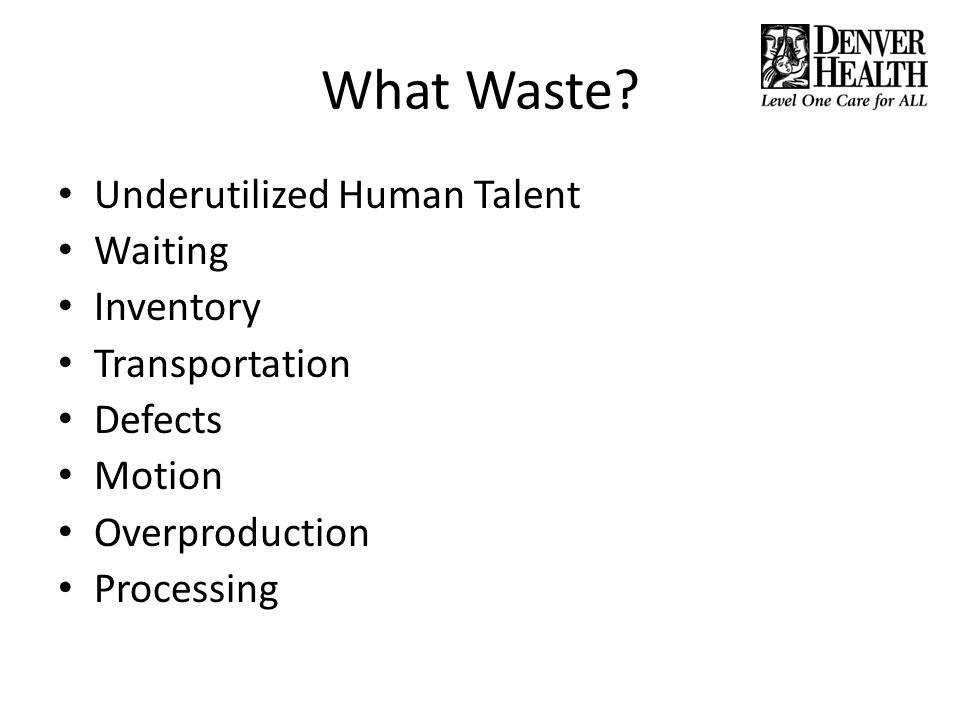What Waste Underutilized Human Talent Waiting Inventory