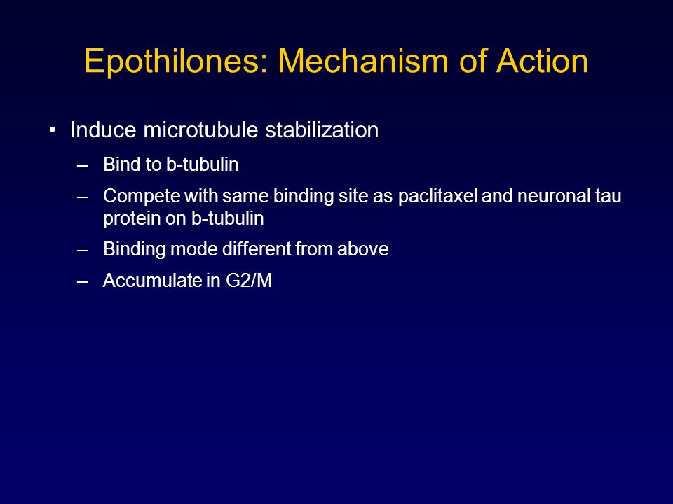 Epothilones: Mechanism of Action