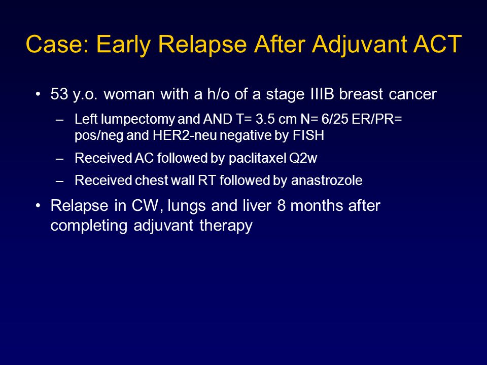 Case: Early Relapse After Adjuvant ACT