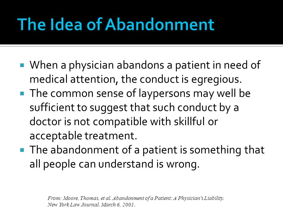 The Idea of Abandonment