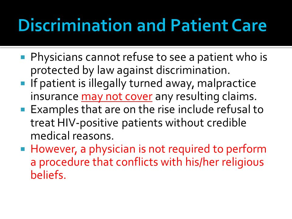 Discrimination and Patient Care