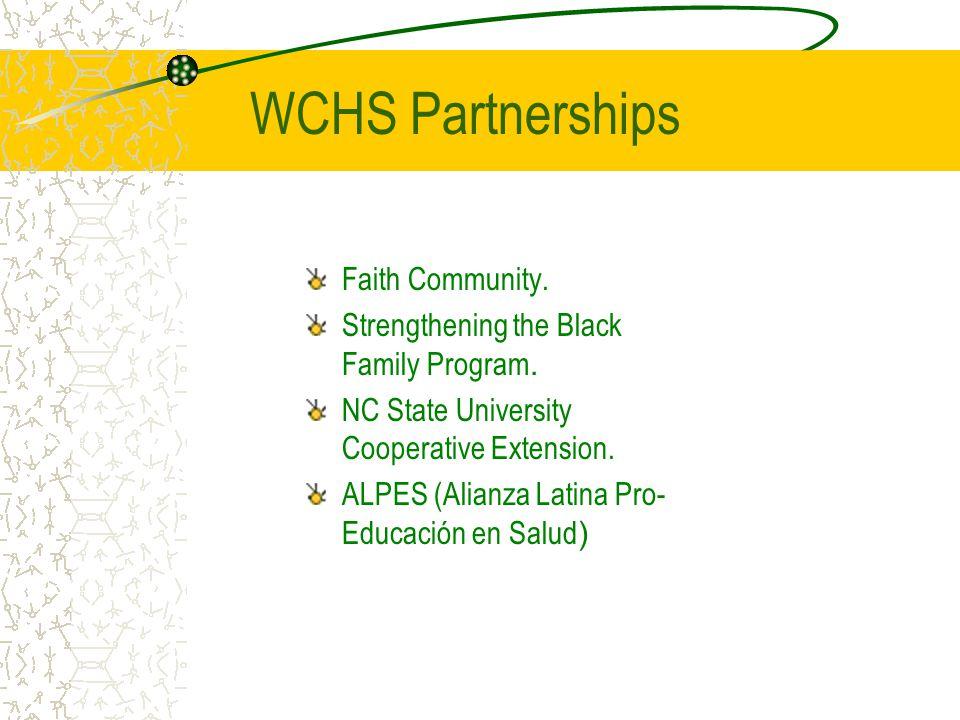 WCHS Partnerships Faith Community.