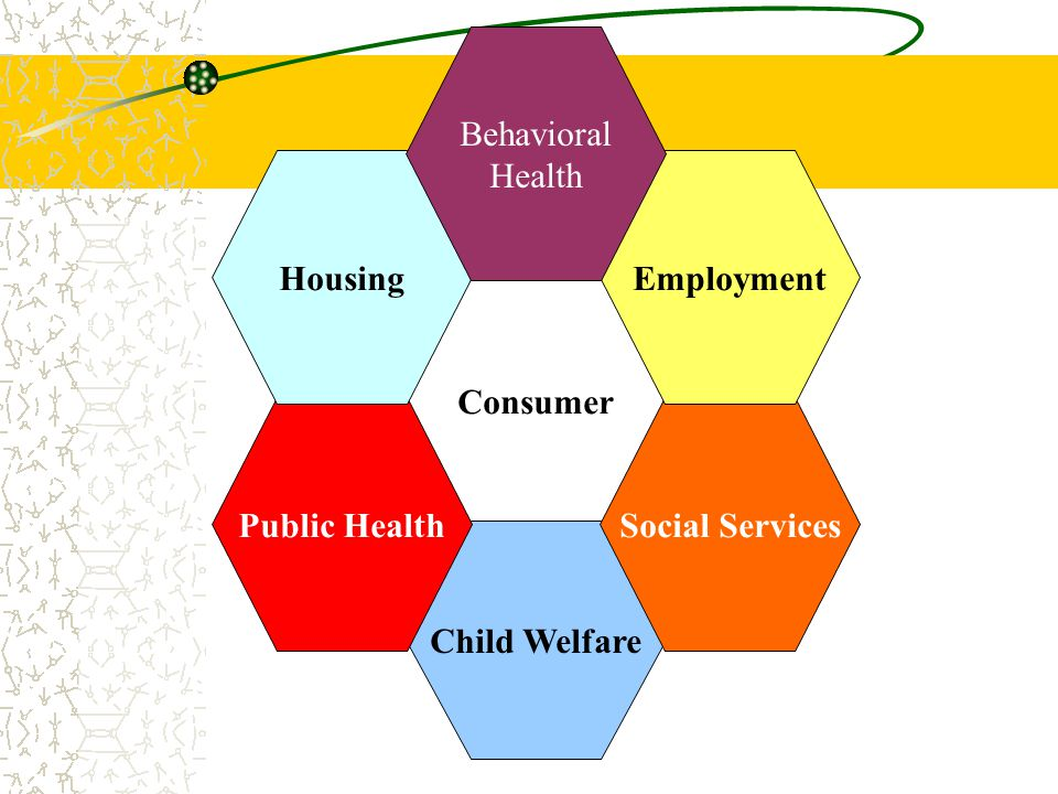 Behavioral Health Housing Employment Consumer Public Health Social Services Child Welfare