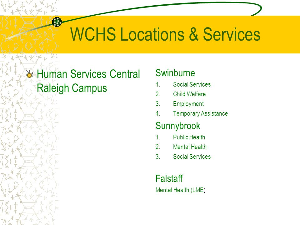 WCHS Locations & Services