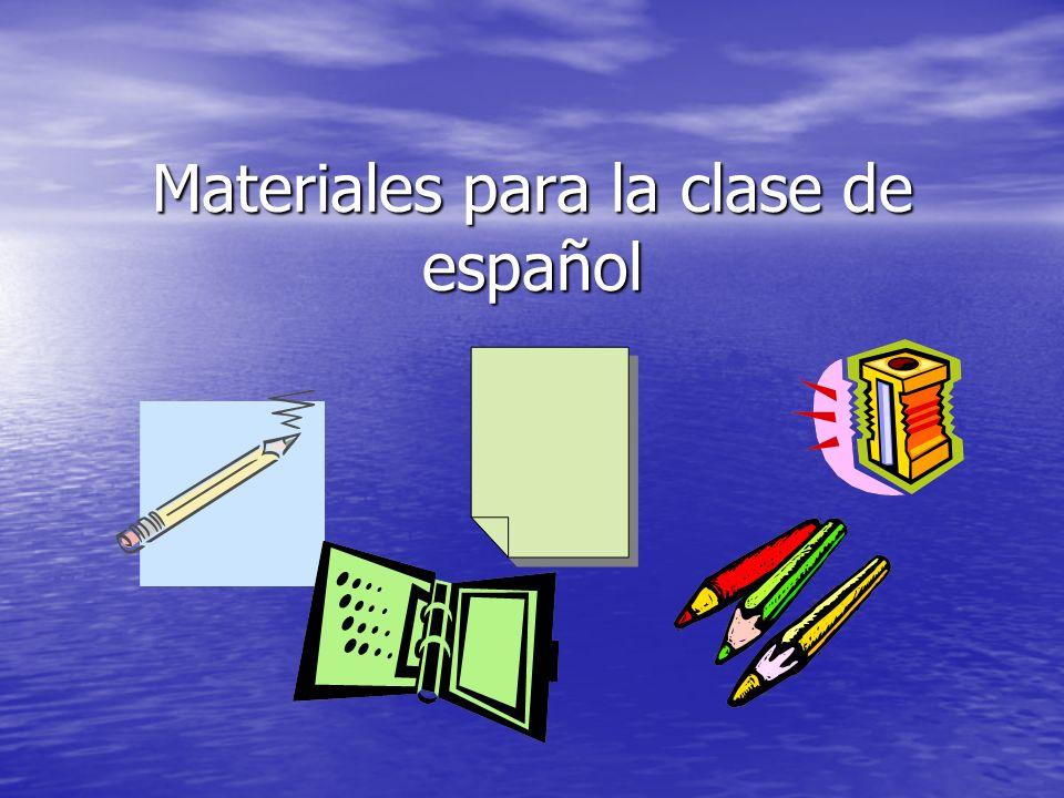 Materiales para la clase de español