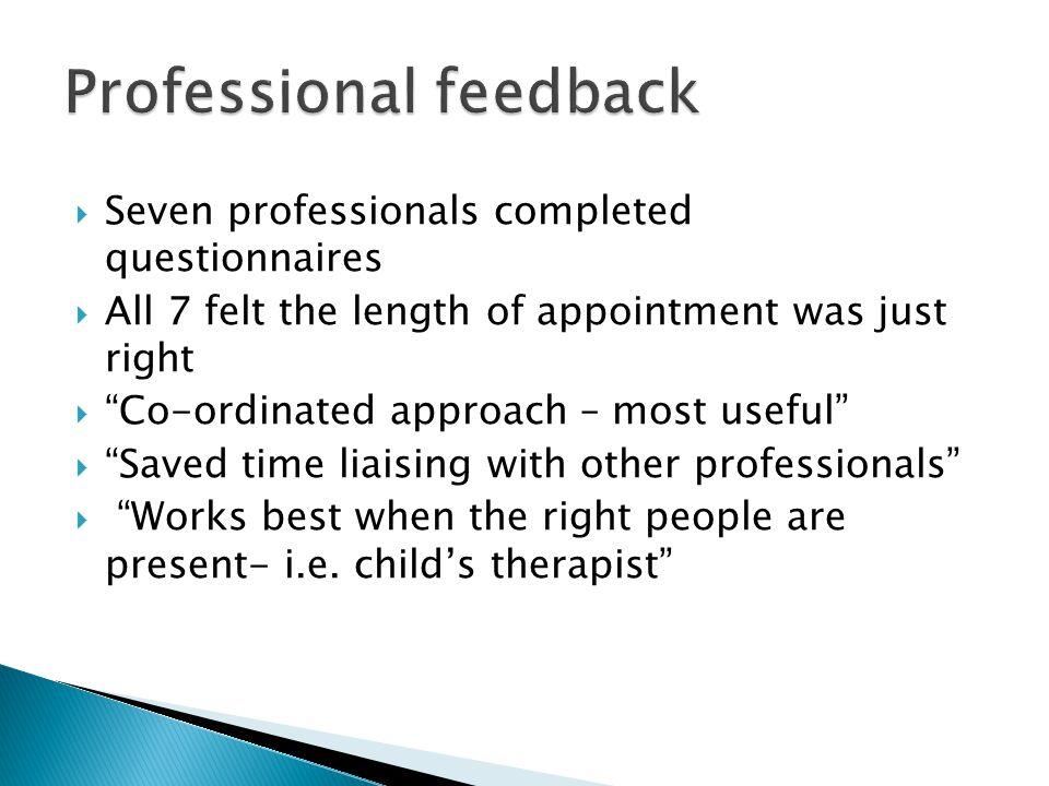 Professional feedback