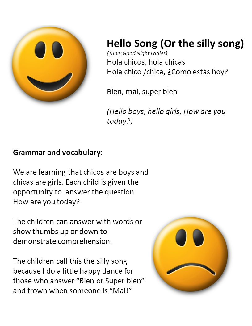 Hello Song (Or the silly song)