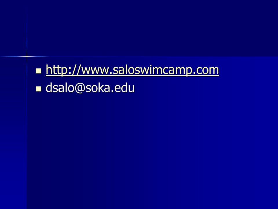 http://www.saloswimcamp.com dsalo@soka.edu