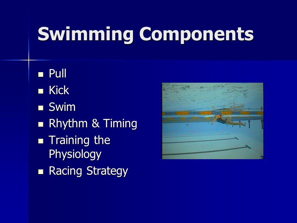 Swimming Components Pull Kick Swim Rhythm & Timing