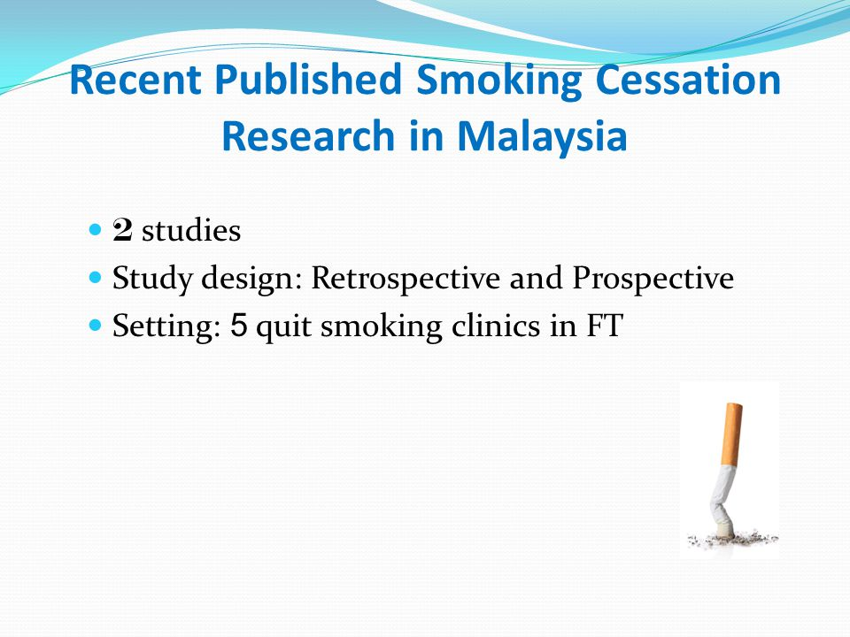 Recent Published Smoking Cessation Research in Malaysia