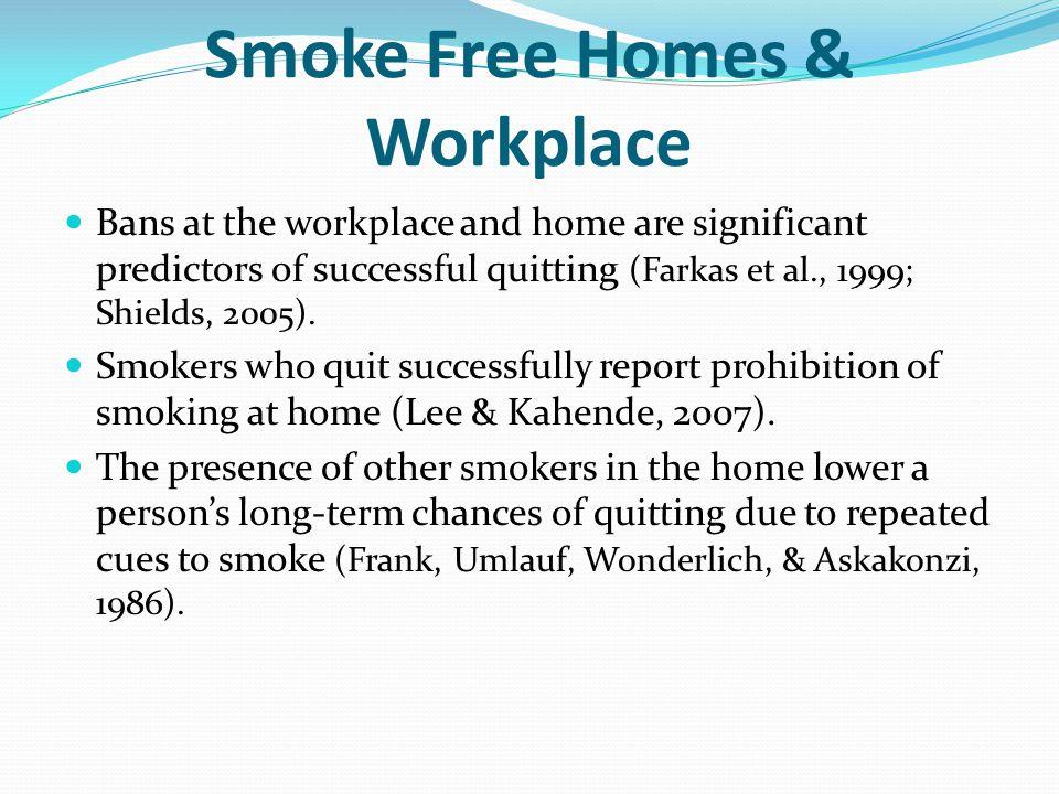 Smoke Free Homes & Workplace