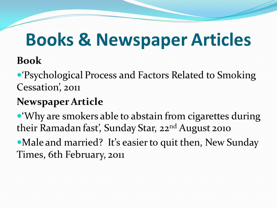 Books & Newspaper Articles