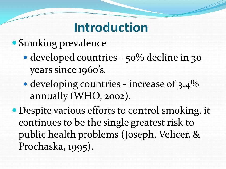 Introduction Smoking prevalence