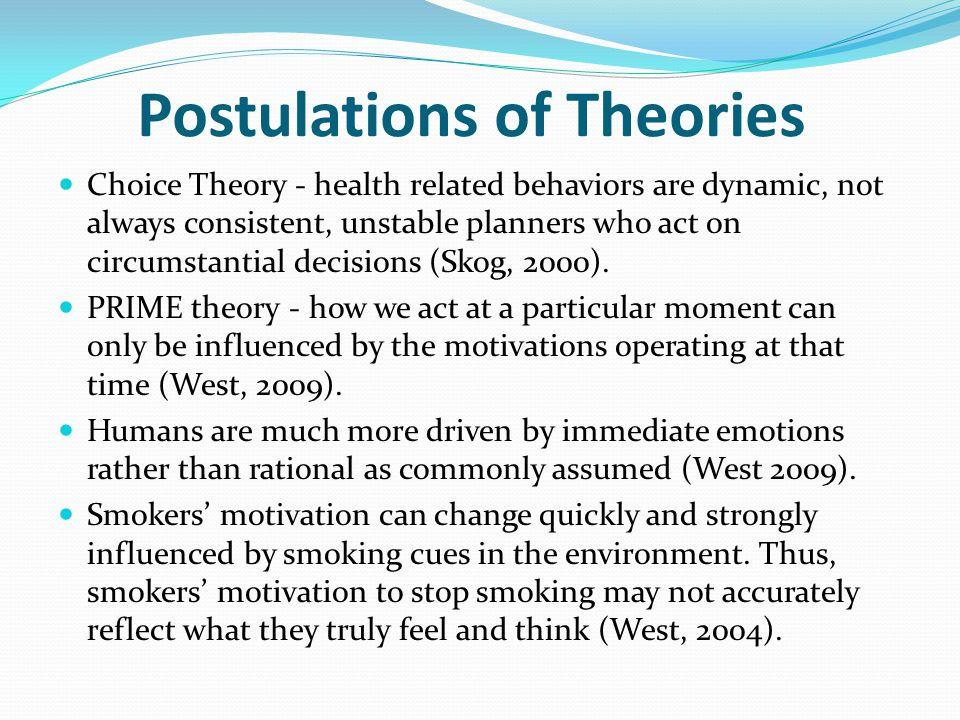 Postulations of Theories