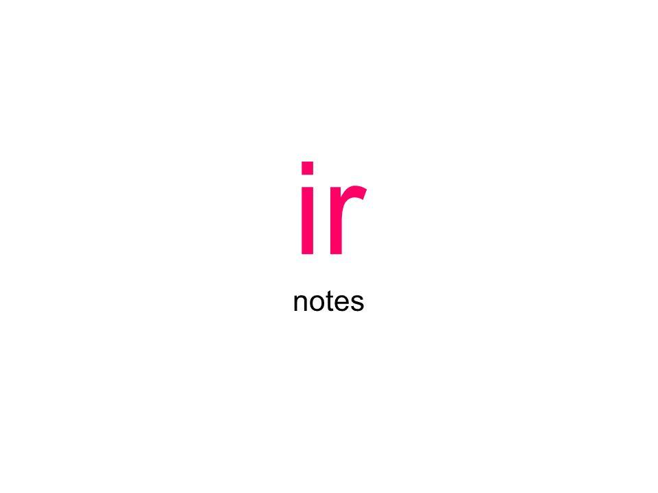 ir notes