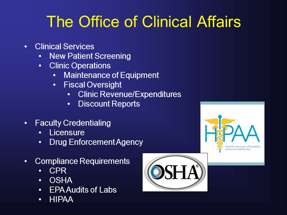 The Office of Clinical Affairs