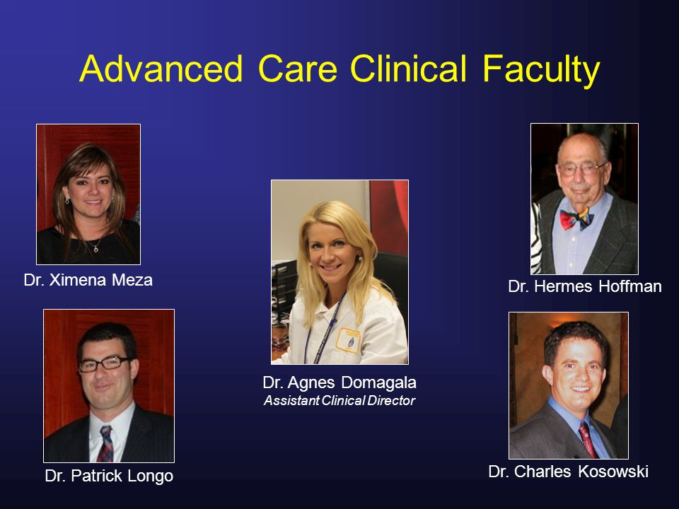 Advanced Care Clinical Faculty