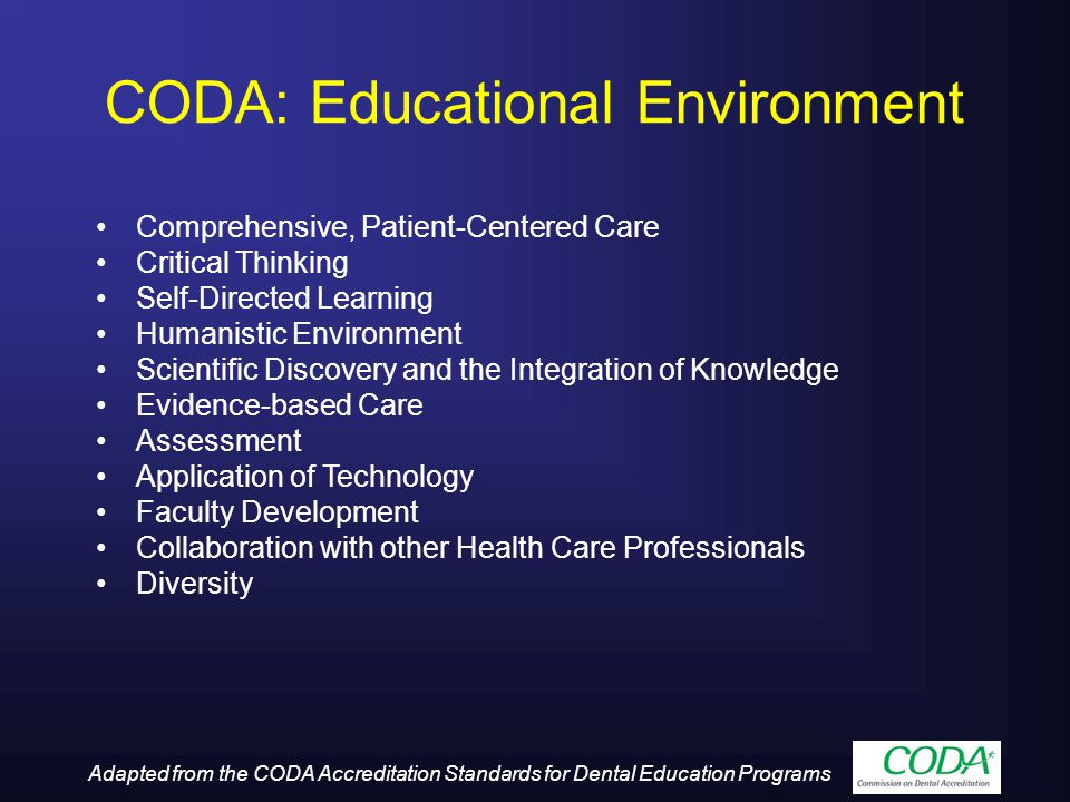 CODA: Educational Environment
