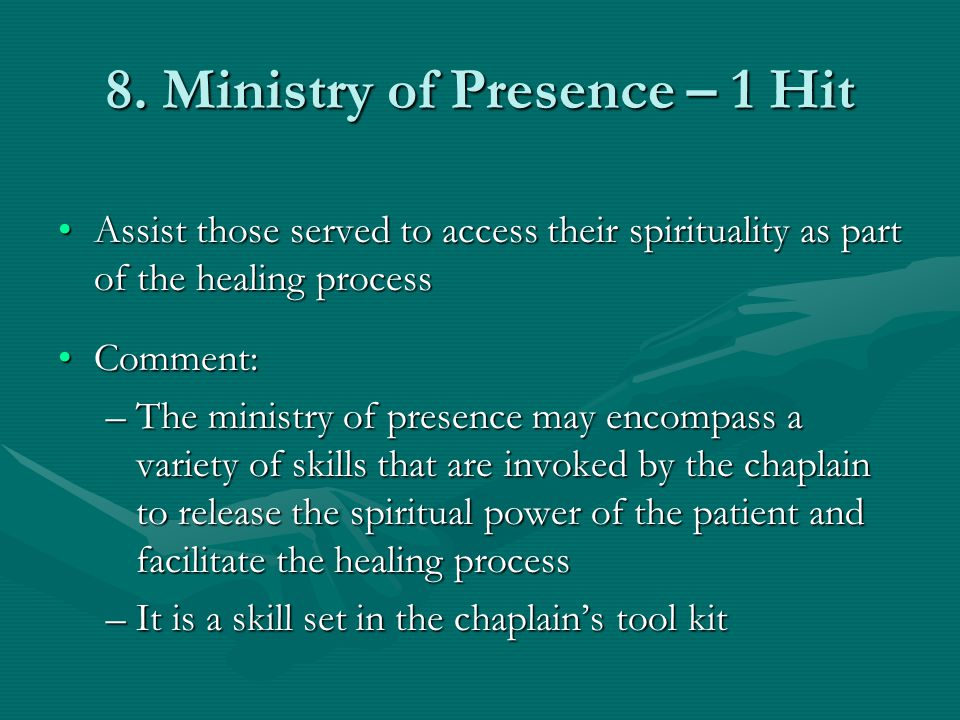 8. Ministry of Presence – 1 Hit