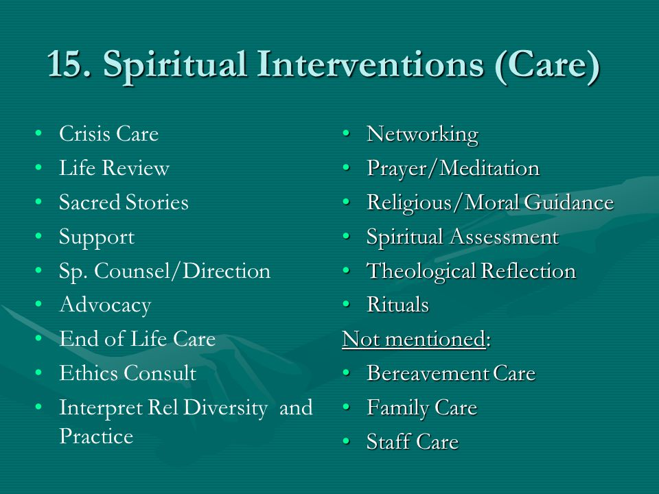 15. Spiritual Interventions (Care)