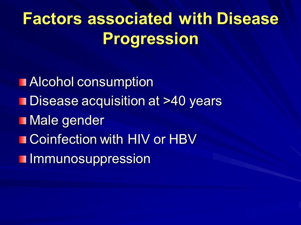 Factors associated with Disease Progression